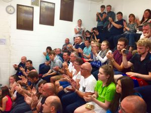 Packed Glass Back viewing gallery at the 2016 County Champs - September 2016